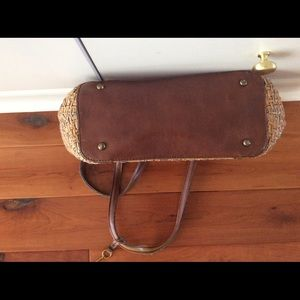 Vintage Bags - Fossil straw purse